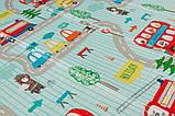 Дитячий двосторонній складаний килимок POPPET Транспорт і Зоолетчики, 200х180х1 см (PP005-200), фото 5
