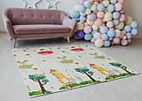 Дитячий двосторонній складаний килимок POPPET Транспорт і Зоолетчики, 200х180х1 см (PP005-200), фото 8