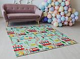 Дитячий двосторонній складаний килимок POPPET Транспорт і Зоолетчики, 200х180х1 см (PP005-200), фото 10