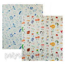 Детский двусторонний складной коврик POPPET Мир животных и Графический космос, 200х180x1см (PP004-200)