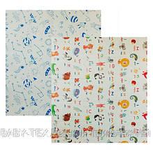 Дитячий двосторонній складаний килимок POPPET Світ тварин і Графічний космос, 200х180х1см (PP004-200)