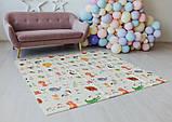 Дитячий двосторонній складаний килимок POPPET Світ тварин і Графічний космос, 150х180х1см (PP004-150), фото 6
