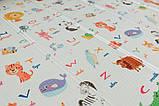 Дитячий двосторонній складаний килимок POPPET Світ тварин і Графічний космос, 150х180х1см (PP004-150), фото 9