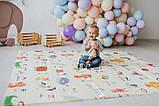 Дитячий двосторонній складаний килимок POPPET Світ тварин і Графічний космос, 150х180х1см (PP004-150), фото 10