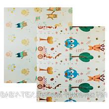 Дитячий двосторонній складаний килимок POPPET Парк і Прогулянка ведмежат, 200х180х1 см (PP002-200)
