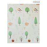 Дитячий двосторонній складаний килимок POPPET Тигреня в лісі і Молочна ферма, 150х180х1 см (PP001-150), фото 2