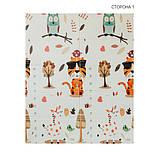 Дитячий двосторонній складаний килимок POPPET Тигреня в лісі і Молочна ферма, 150х180х1 см (PP001-150), фото 3