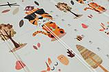 Дитячий двосторонній складаний килимок POPPET Тигреня в лісі і Молочна ферма, 150х180х1 см (PP001-150), фото 7