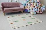 Дитячий двосторонній складаний килимок POPPET Тигреня в лісі і Молочна ферма, 150х180х1 см (PP001-150), фото 8