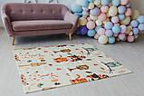 Дитячий двосторонній складаний килимок POPPET Тигреня в лісі і Молочна ферма, 150х180х1 см (PP001-150), фото 9