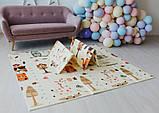 Дитячий двосторонній складаний килимок POPPET Тигреня в лісі і Молочна ферма, 150х180х1 см (PP001-150), фото 10
