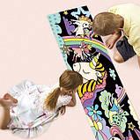 Набір для малювання AVENIR гігантська вельвет-розмальовка Єдиноріг, фото 7