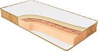 Ортопедический матрас спальный Релакс кокос беспружинный на кровать высота 20 см двусторонний