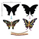 Набір для творчості, скретч-арт AVENIR Метелики, 4 скретч-листа, фото 3