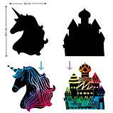 Набор для творчества, скретч-арт AVENIR Единорог, 4 скретч-листа, фото 3