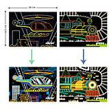 Набор для творчества, скретч-арт AVENIR Транспорт, 8 скретч-листов, фото 3