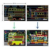 Набор для творчества, скретч-арт AVENIR Транспорт, 8 скретч-листов, фото 4