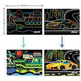 Набор для творчества, скретч-арт AVENIR Транспорт, 8 скретч-листов, фото 6
