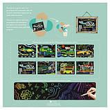 Набор для творчества, скретч-арт AVENIR Транспорт, 8 скретч-листов, фото 7