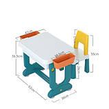 Багатофункціональний дитячий столик POPPET Трансформер 6 в 1 і стільчик, фото 5