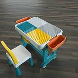 Детский многофункциональный столик POPPET Трансформер 6 в 1 и стульчик, фото 8