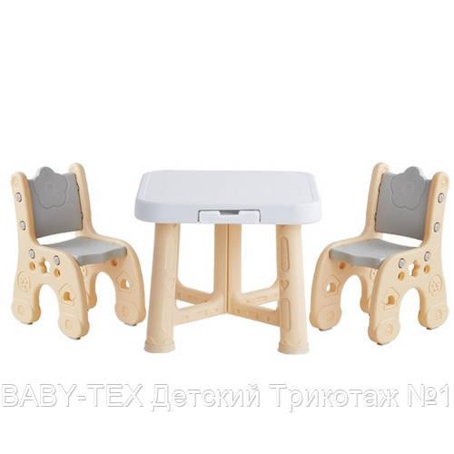 Детский функциональный столик POPPET Классик и два стульчика