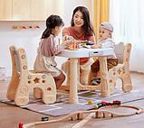 Детский функциональный столик POPPET Классик и два стульчика, фото 2