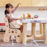 Детский функциональный столик POPPET Классик и два стульчика, фото 4