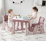 Детский функциональный столик POPPET Пудра и два стульчика, фото 2