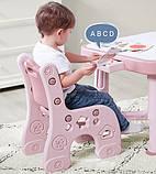 Детский функциональный столик POPPET Пудра и два стульчика, фото 3