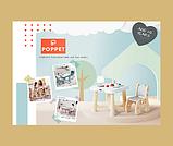 Детский функциональный столик POPPET Пудра и два стульчика, фото 7