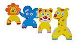 Дитячі аква-пазли Baby Great Смішні тварини, 4 іграшки ШЛЮБ УПАКОВКИ, фото 2