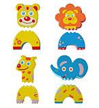 Детские аква-пазлы Baby Great Смешные животные, 4 игрушки БРАК УПАКОВКИ, фото 3