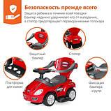 Толокар KID CAR Mega Car с ручкой, красный, фото 6
