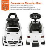 Толокар Mercedes-Benz SLS AMG лицензия, белый, фото 2