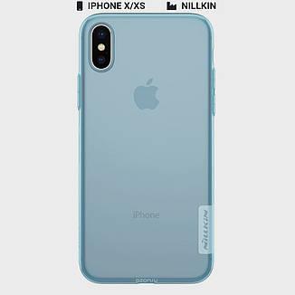 Защитный чехол Nillkin для Apple iPhone X / iPhone XS Nature TPU Series Blue, фото 2