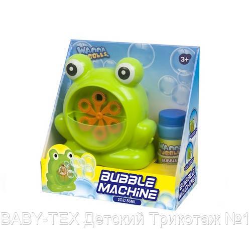 Мильні бульбашки Wanna Bubbles Баббл генератор Зелене жабеня, 50 мл