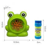 Мыльные пузыри Wanna Bubbles Баббл генератор Зеленый лягушенок, 50 мл, фото 5
