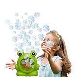 Мыльные пузыри Wanna Bubbles Баббл генератор Зеленый лягушенок, 50 мл, фото 7