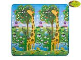 Детский двусторонний коврик Limpopo Большой жираф и Красочная азбука, 200х180 см, фото 5
