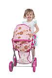 Коляска Todsy 2 в 1 с люлькой для куклы Mary, розовая БРАК УПАКОВКИ, фото 3