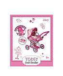 Коляска Todsy 2 в 1 с люлькой для куклы Mary, розовая БРАК УПАКОВКИ, фото 4