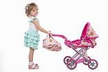 Коляска Todsy 2 в 1 с люлькой для куклы Mary, розовая БРАК УПАКОВКИ, фото 5