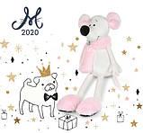 Мягкая игрушка MAXI TOYS Мышка Носатик в меховом шарфе и тапочках, 23 см, фото 3