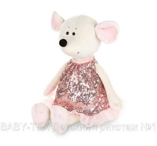 Мягкая игрушка MAXI TOYS Мышка Шайни в блестящем платье, 21 см
