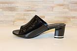 Шлепанцы женские черные на каблуке Б1105, фото 2