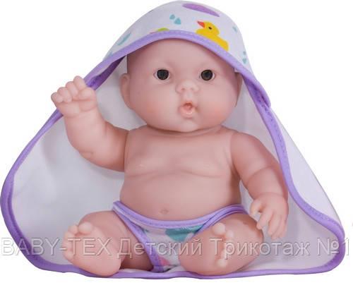 Пупс JC Toys Лулу с фиолетовым полотенцем, 20 см