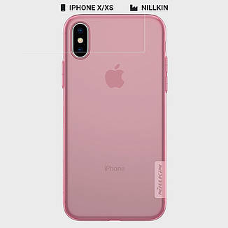 Защитный чехол Nillkin для Apple iPhone X / iPhone XS Nature TPU Series Pink, фото 2