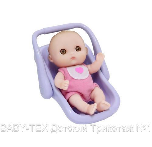 Пупс-малюк JC Toys з автокріслом, 13 см ШЛЮБ УПАКОВКИ