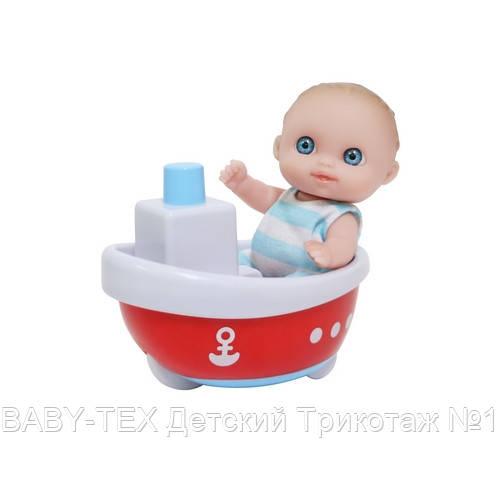 Пупс-малыш JC Toys с лодочкой, 13 см БРАК УПАКОВКИ